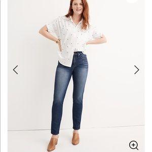 NWT Madewell Slim Straight Jeans William Wash 27